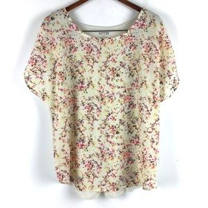 Apt 9 -Floral Short Sleeve Blouse